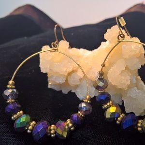 Jewelry - Iridescent Hoop Earrings